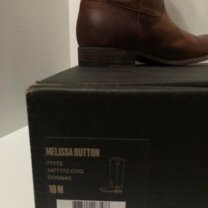 Frye size 10 Melissa Button Brown knee boots
